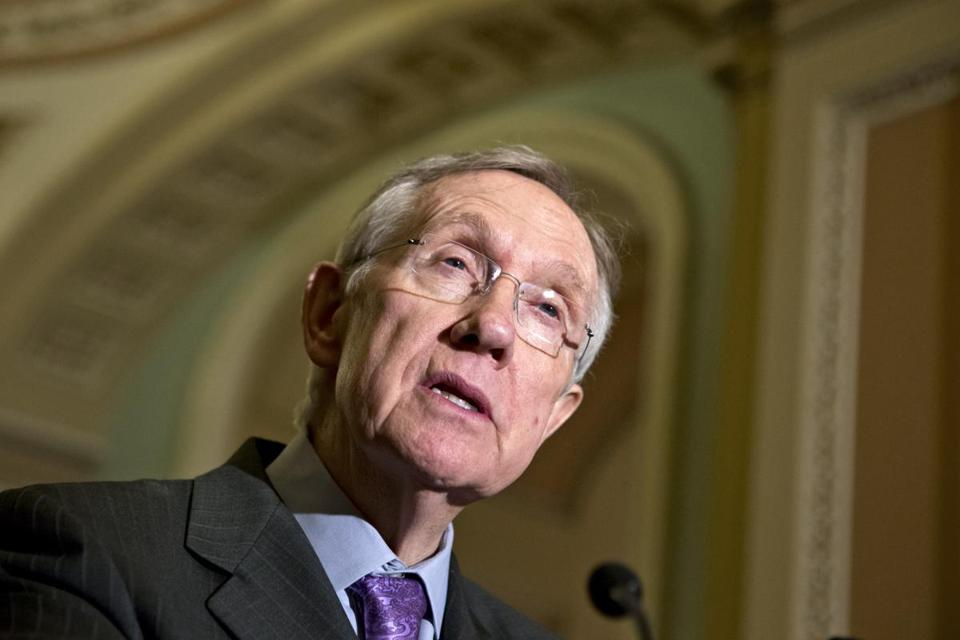 Senate Majority Leader Harry Reid accused the GOP minority leader Mitch ­McConnell of ''abusing'' the filibuster rules.