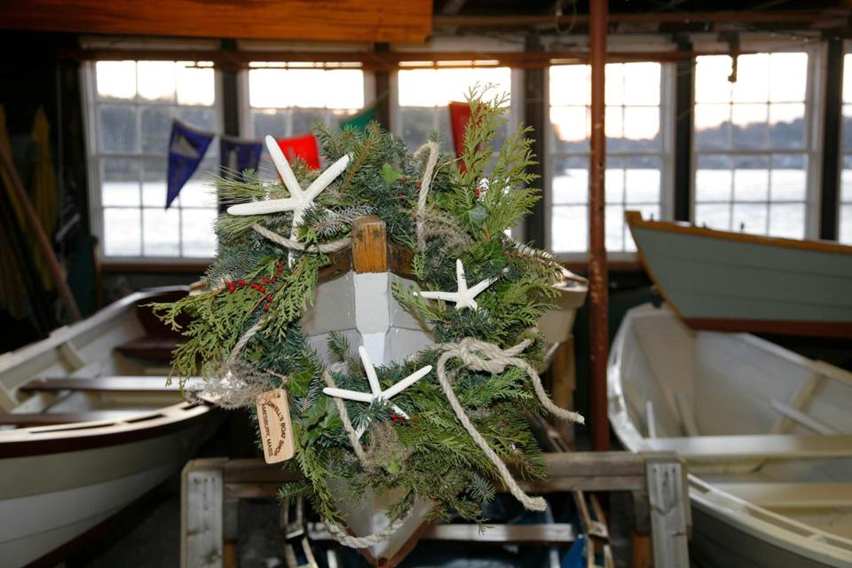 Santa will visit Lowell's Boat Shop in Amesbury during an open house Saturday and Sunday.
