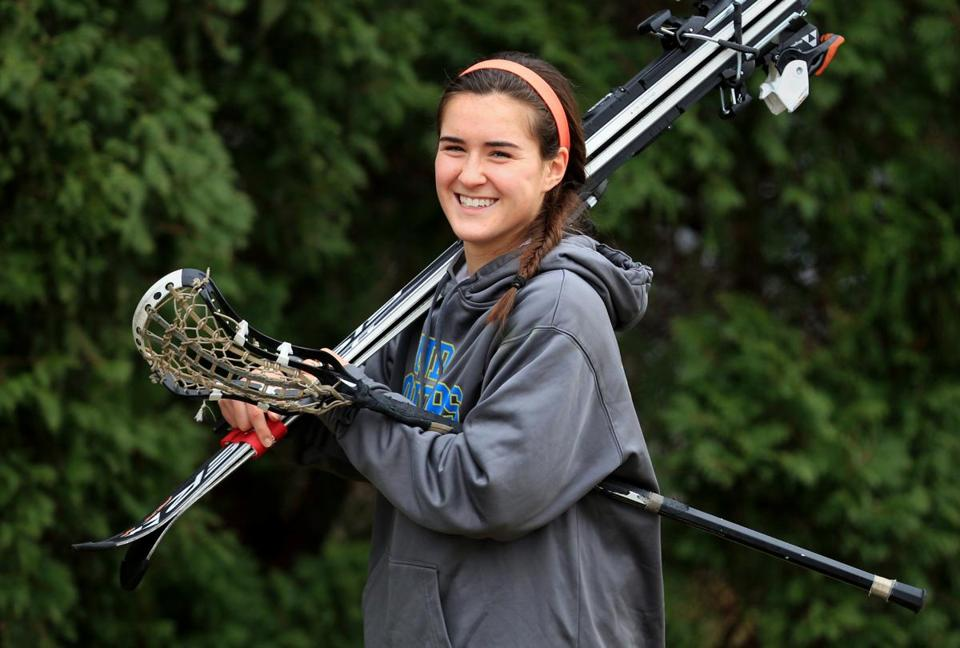 Notre Dame Academy's Amelia Brown has been skiing since age 2, but also excels at soccer and lacrosse.