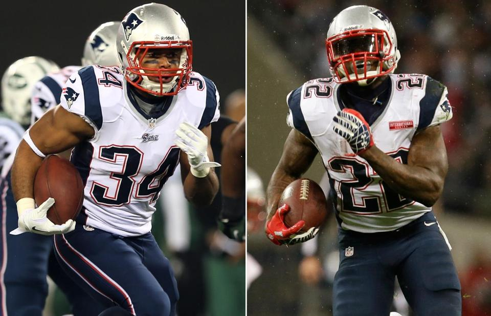 Shane Vereen, left, and Stevan Ridley have injected a new threat into the Patriots offense.