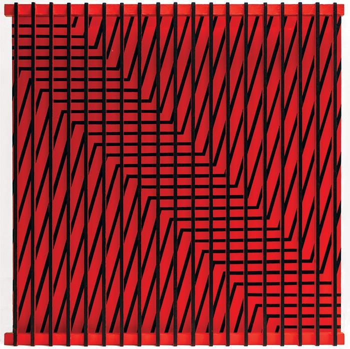 """Black and Red Movement"" is part of John Goodyear's ""Rewind and Reflect"" exhibit at David Hall Fine Art."