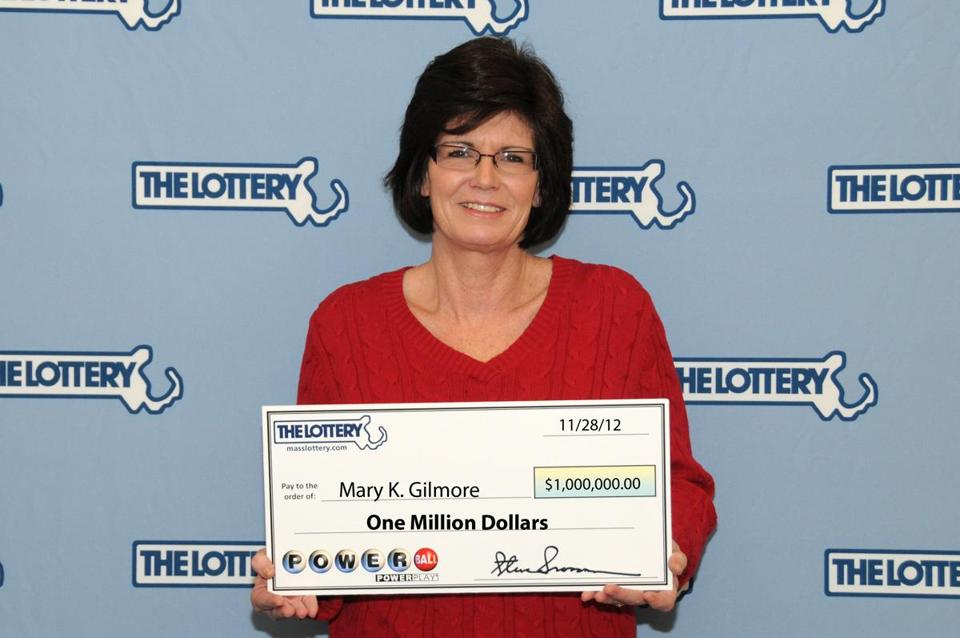 Mary K. Gilmore of Rockland claimed a $1 million prize won in last night's Powerball drawing.