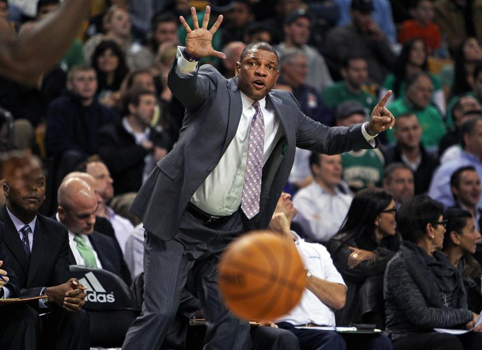 "After going easy on his players earlier in the season, the gloves are off for Celtics coach Doc Rivers. ""We're getting mauled on the rebounds every night,"" he said."