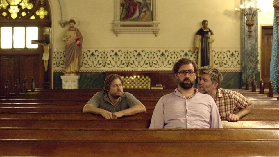 "From left: Tim Heidecker, Eric Wareheim, and James Murphy in director Rick Alverson's ""The Comedy."""