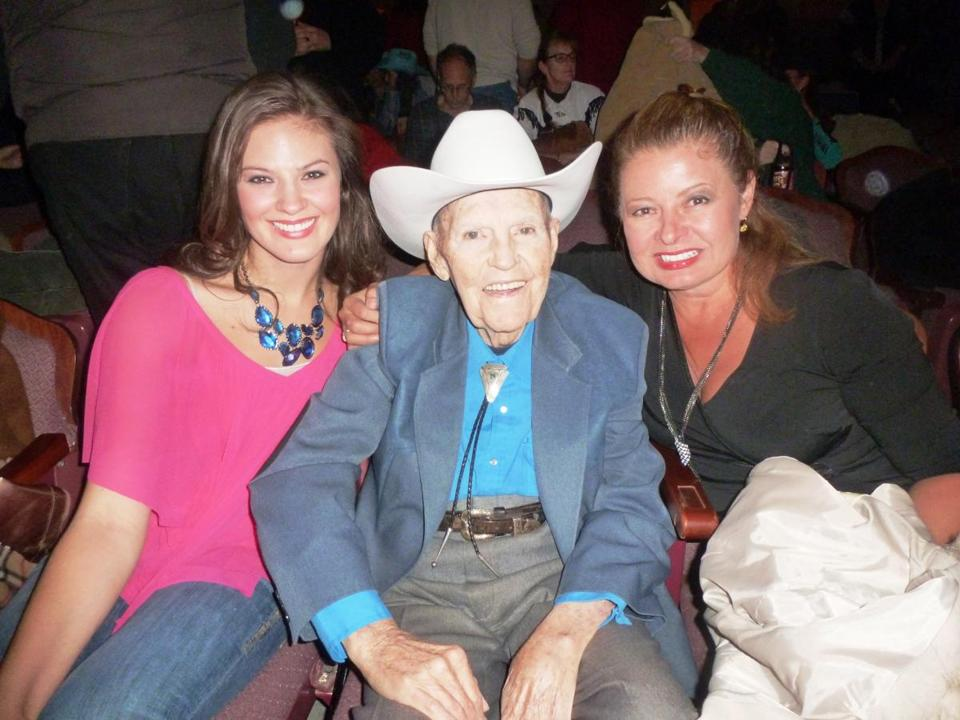 Ayla Brown, Rex Trailer, and Brown's mother, Gail Huff.