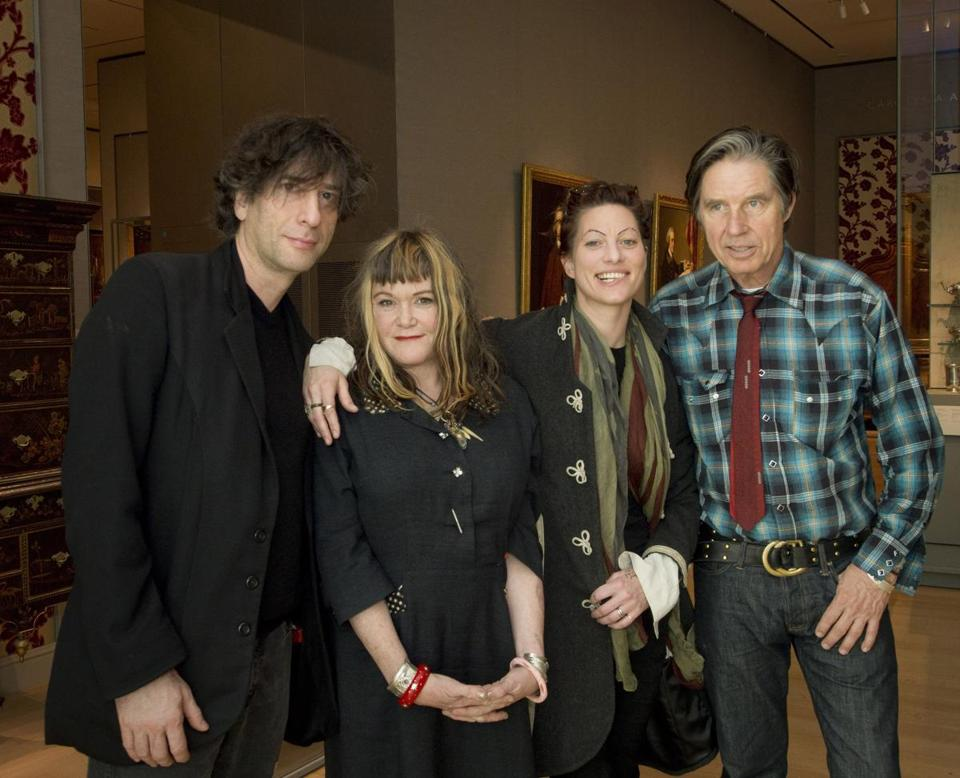 From left: Neil Gaiman, Exene Cervenka, Amanda Palmer, John Doe.