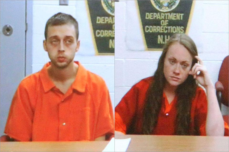 Roland H. Dow III and Jessica M. Linscot were arraigned separately via video conference from the Rockingham County jail.