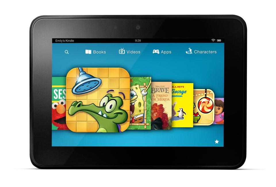 Amazon wants more children to use the Kindle Fire.