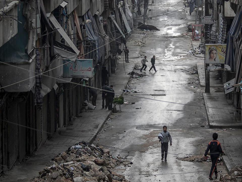 Devastation is everywhere in Aleppo, which has been a battleground since the summer.