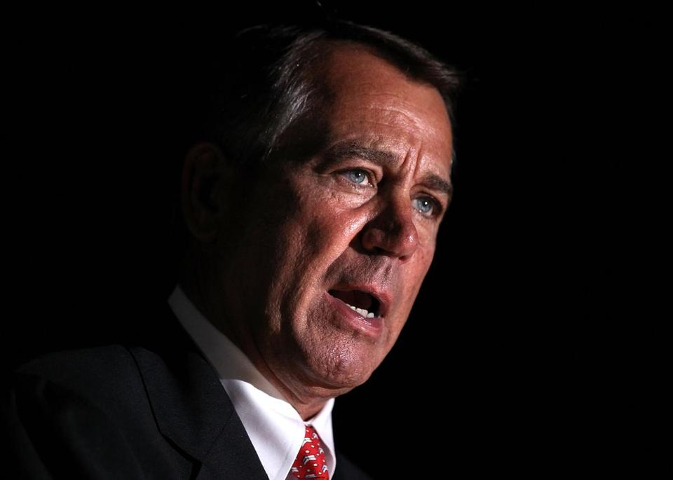 House Speaker John Boehner is dug in against any increase in rates, reflecting GOP orthodoxy, but said Monday that he would be willing to limit tax deductions to raise revenues.