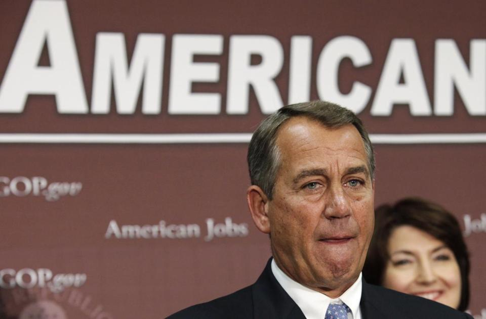 House Speaker John Boehner spoke about the fiscal cliff negotiations on Wednesday.