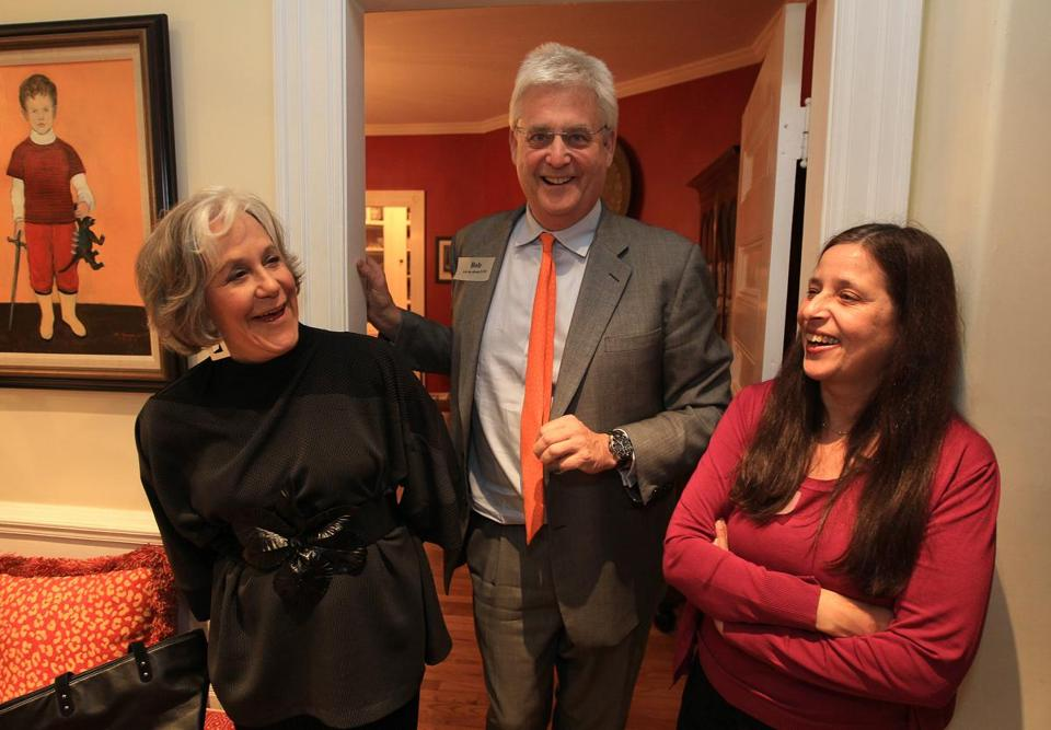 From left: Kathryn Lasky, Bob Peabody, and Roberta Soolman, executive director of Literacy Volunteers of Massachusetts.