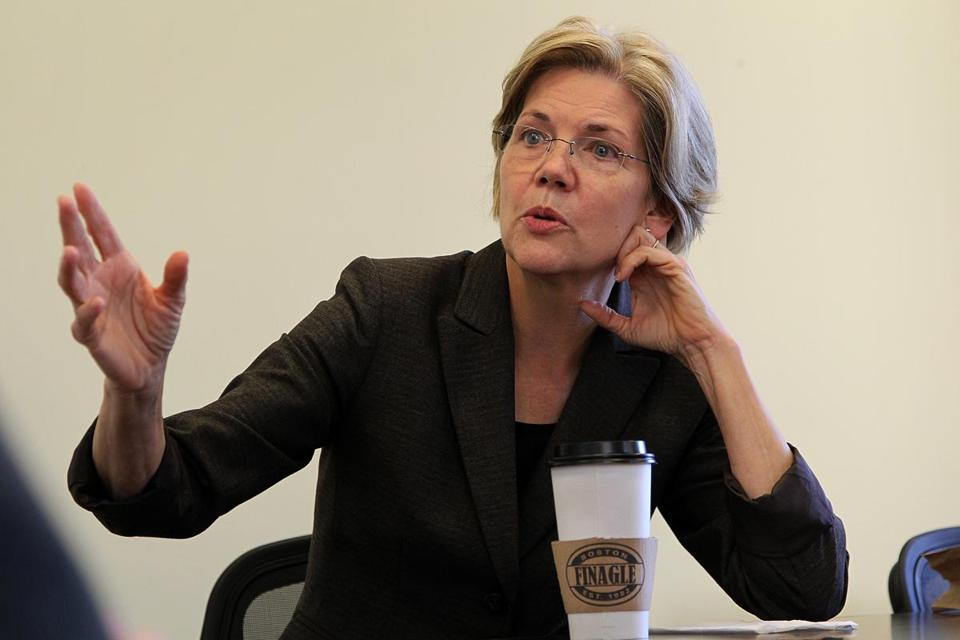 Elizabeth Warren has no bills or initiatives ready to propose when she becomes senator.
