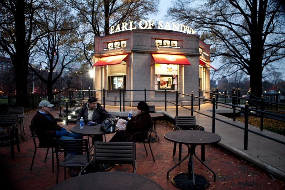 The Earl of Sandwich stand on the Boston Common.