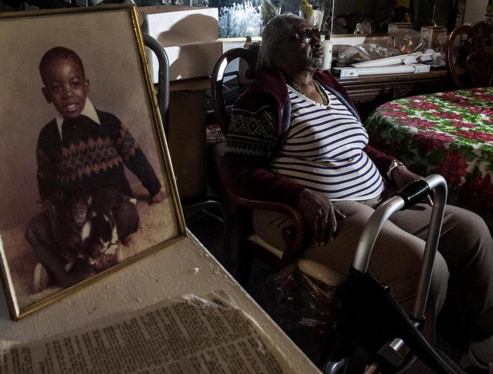 Martha Wright-Reed, 86, called her grandson, Ulandis Forte, whose childhood photo is at left, when he was in prison.