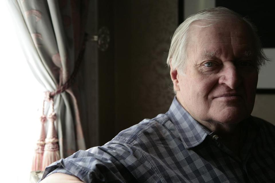 Poet John Ashbery at his home in Hudson, NY.