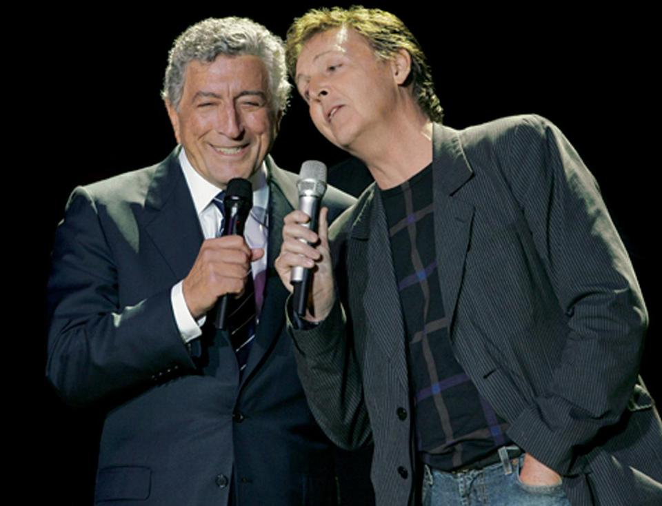 "Tony Bennett and Paul McCartney sang ""The Very Thought of You"" on a Bennett ""Duets"" CD."