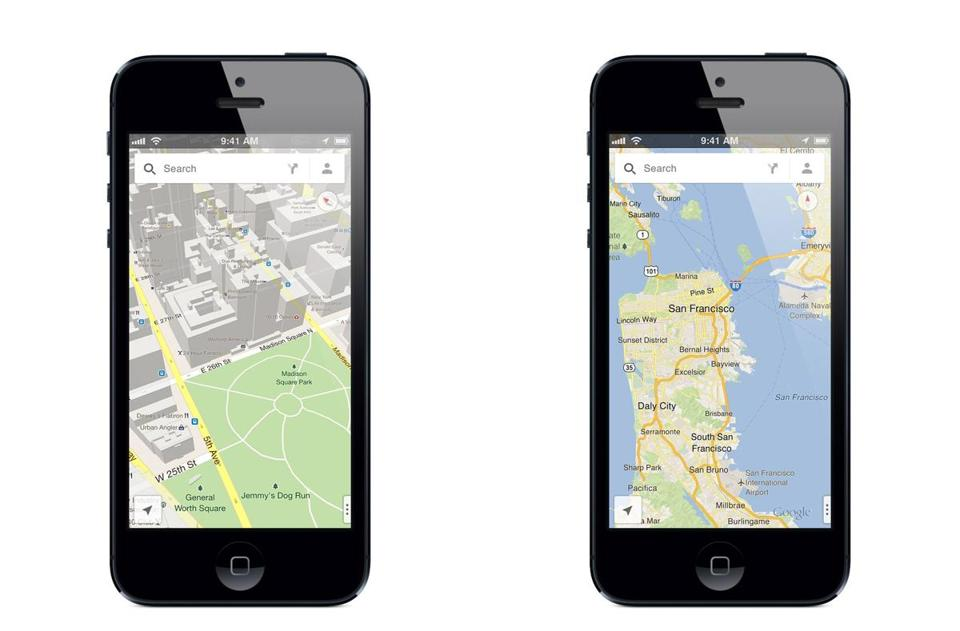 Google released its Google Maps iPhone app Wednesday, three months after Apple Inc. removed Google Maps as the iPhone's built-in navigation system.