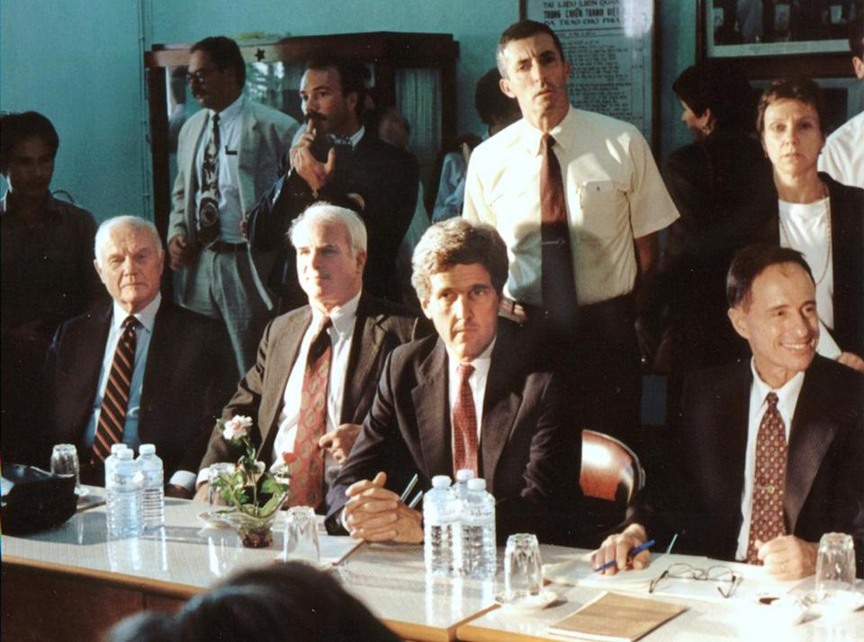 Senator John Kerry, seen in Vietnam in 1995. Kerry is credited with helping thaw relations with the Communist nation.