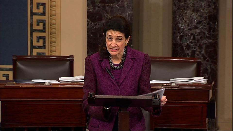 Senator Olympia J. Snowe said she remains hopeful that the Senate can overcome excessive political partisanship.