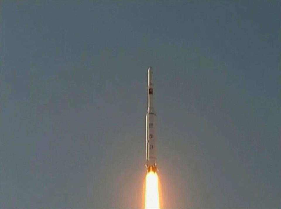 North Korea fired a long-range rocket that put a satellite into orbit.