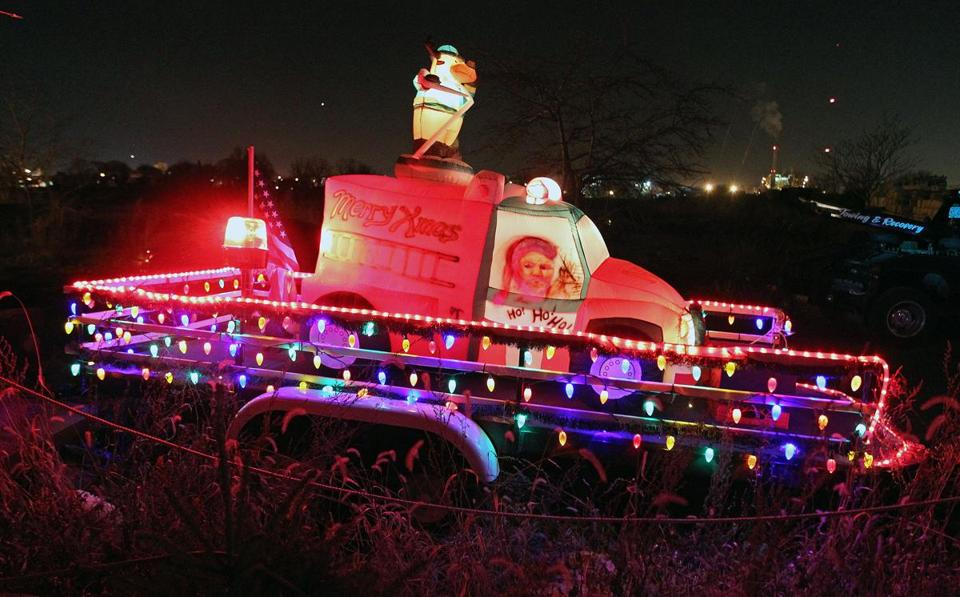 Some 75 vehicles like the one above are expected to join Santa's Christmas Eve Parade Monday in Lynn. The organizers have a simple rule about parade floats: nothing dull, please.