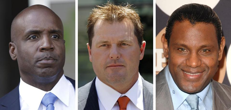 Barry Bonds, Roger Clemens, and Sammy Sosa are on the Hall of Fame ballot for the first time.