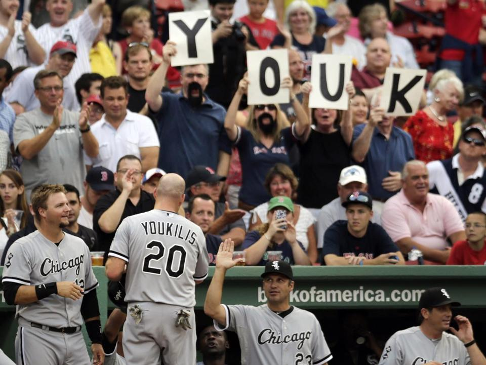 The Red Sox dealt Kevin Youkilis to the White Sox last year, but now that he's a Yankee, will the chants sound the same?