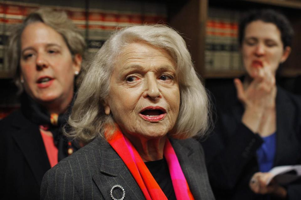 Edith Windsor, 83, is at the center of a Supreme Court gay marriage case after she was denied federal benefits when her wife and partner of more than 40 years died.