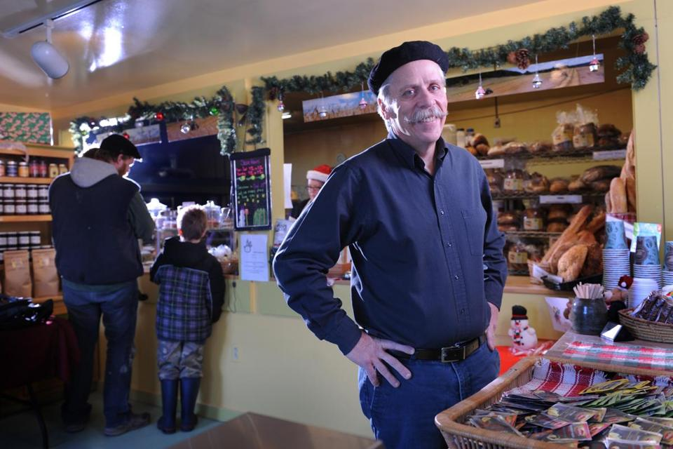 Jim Amaral in one of his Borealis Bread stores, in Waldoboro, Maine, where he makes a variety of breads.