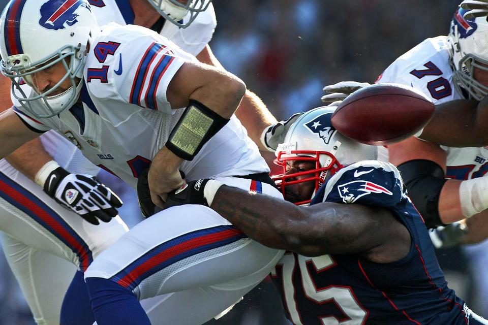 Vince Wilfork has played 80 percent of the Patriots' defensive snaps this season, much to the chagrin of opponents such as Bills quarterback Ryan Fitzpatrick.