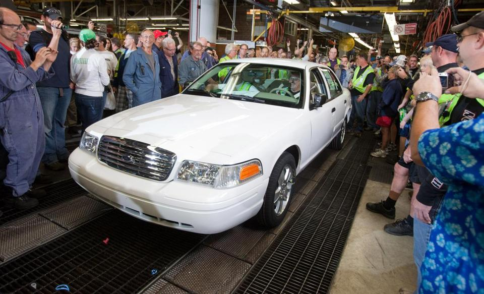 The last Crown Victoria rolled off an assembly line in Ontario in 2011.