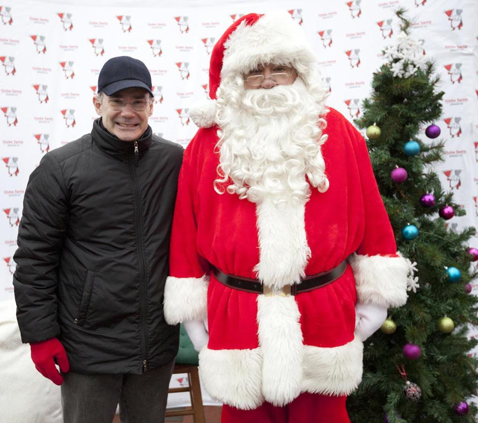 Roger Berkowitz, president and chief executive of Legal Sea Foods, stopped by The Charles Hotel in Cambridge this past weekend to lend Globe Santa a helping hand.