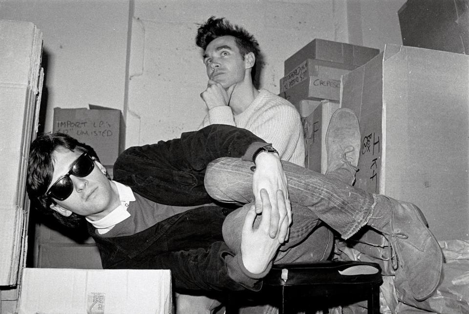 Johnny Marr (left) and Morrissey of the Smiths, pictured in 1983.
