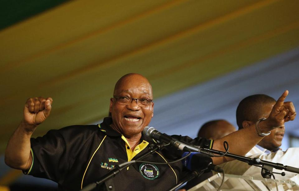 South Africa's President Jacob Zuma celebrated his re-election as Party President at the National Conference of the ruling African National Congress (ANC) in Bloemfontein Tuesday.