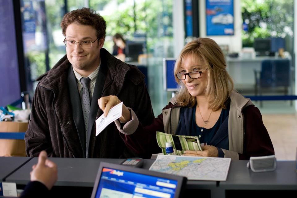 Barbra Streisand and Seth Rogen have fun together playing a traveling mother and son pair, Joyce and Andrew Brewster.