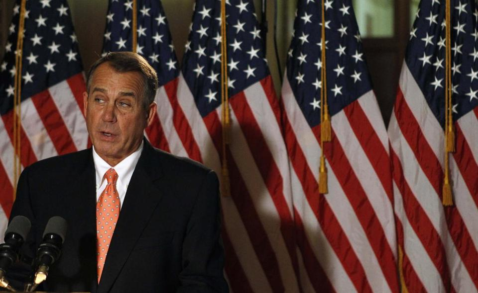 House Speaker John Boehner made a brief statement to the media at the Capitol on Wednesday.