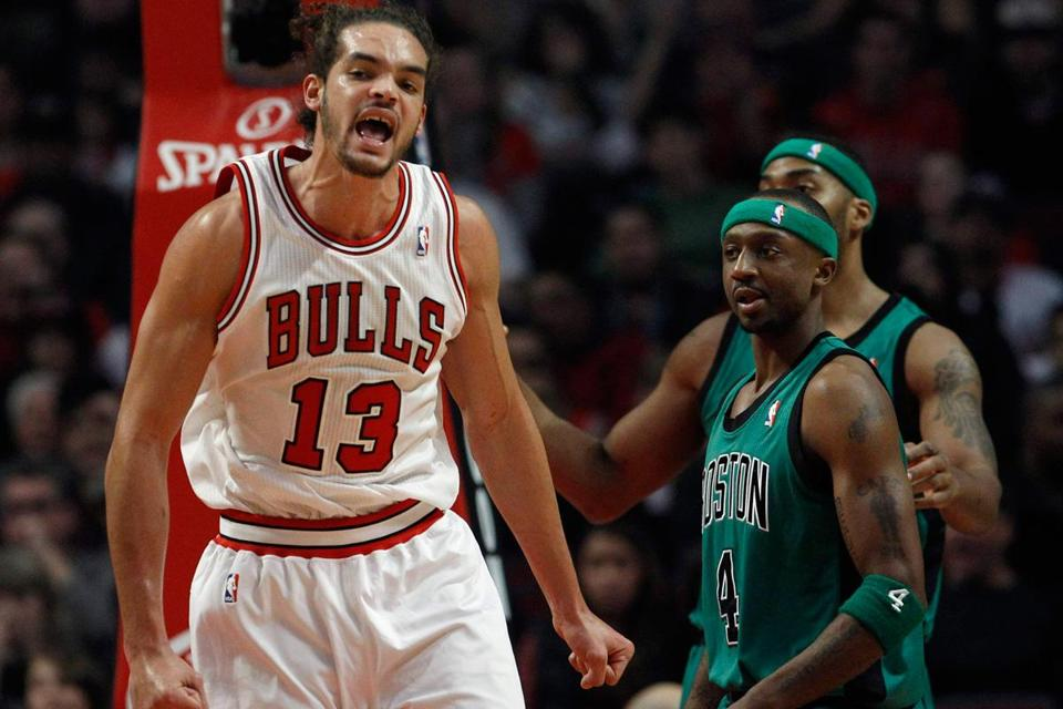 The Celtics were standing still next to the Bulls' Joakim Noah, who had a triple-double of 11 points, 13 rebounds, and 10 assists.