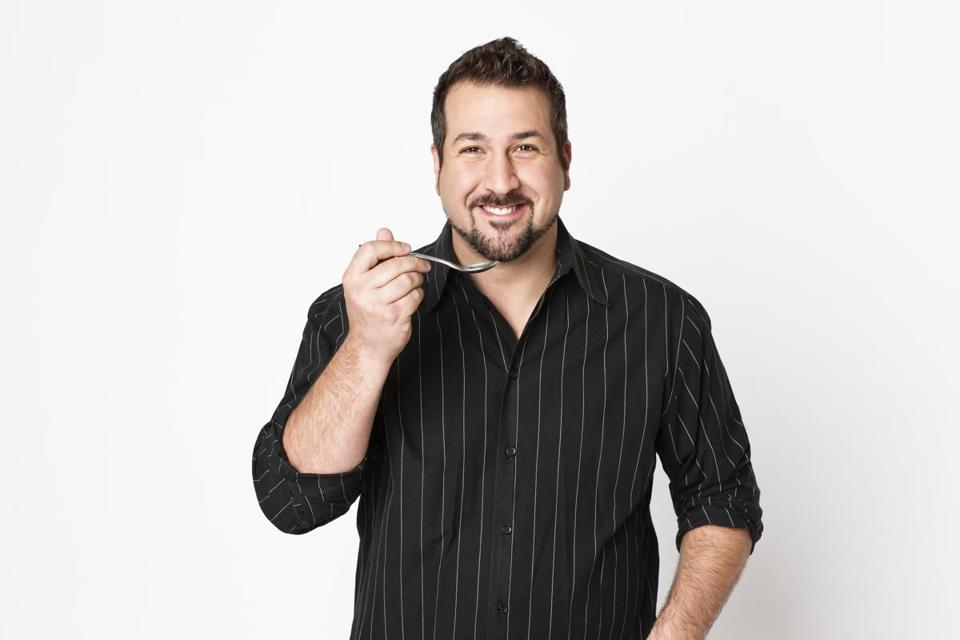 "Joey Fatone, star of ""My Family Recipe Rocks""."