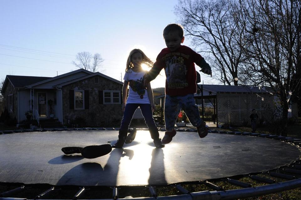 Backyard play items like trampolines can be risky when it comes to getting house insurance.