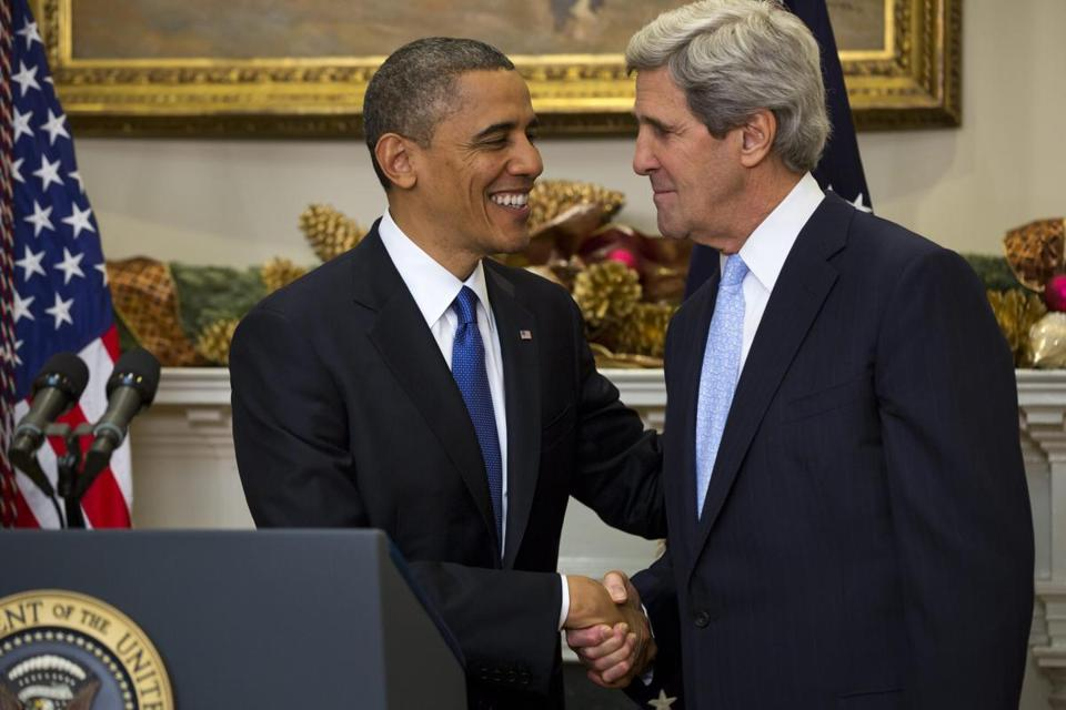At the White House, President Obama nominated Bay State Senator John Kerry as the next secretary of state.