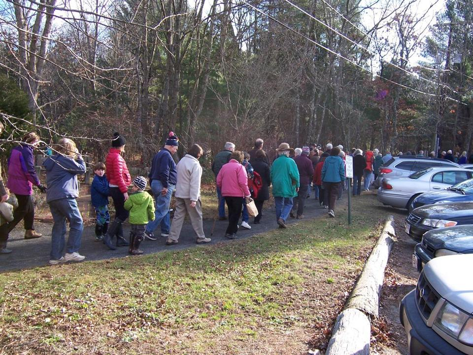 About 100 people showed up for the 2012 New Year's Day walk in Norwell .