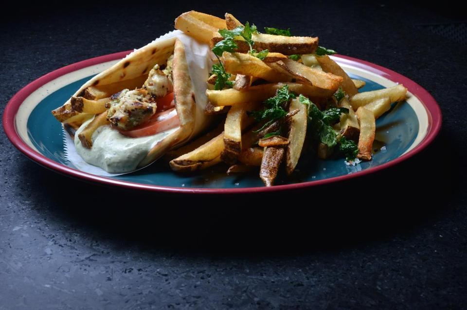 Chicken souvlaki with fries is one of the highlights at Dimitra Tsourianis's Daddy Jones.