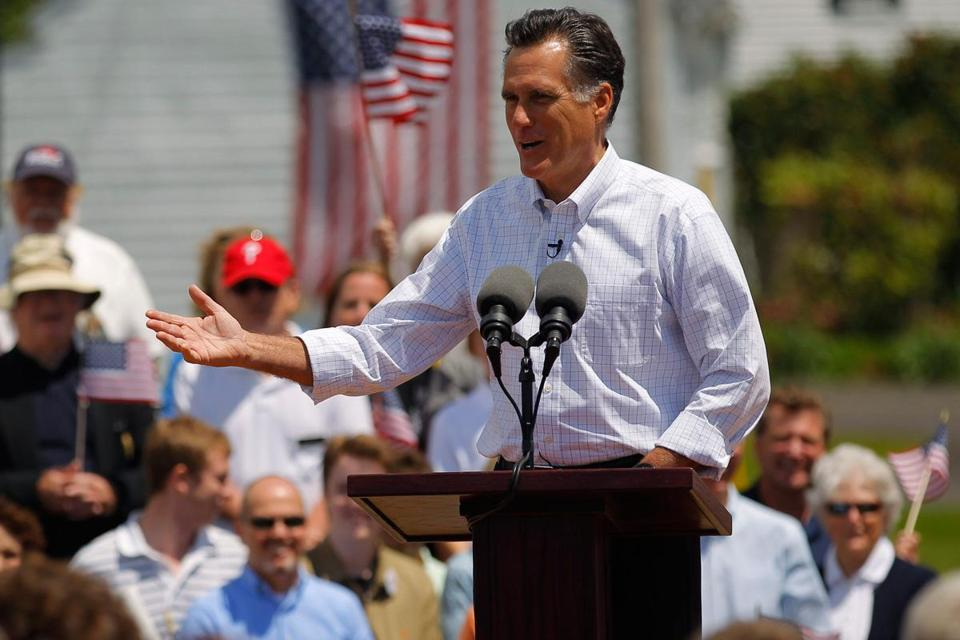 Mitt Romney's family says he was reluctant to run in 2012.