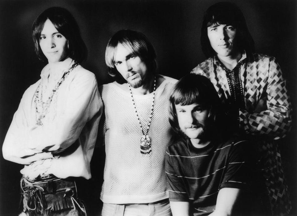 Lee Dorman (front) with Iron Butterfly in 1969.