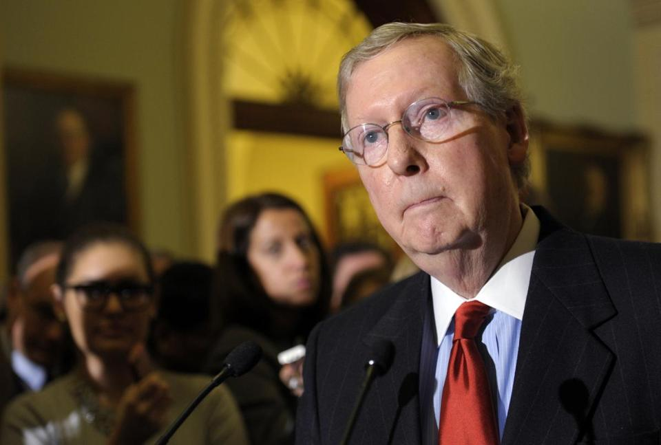 Mitch McConnell of Kentucky, the Senate minority leader, has not indicated a willingness to intervene in the crisis.