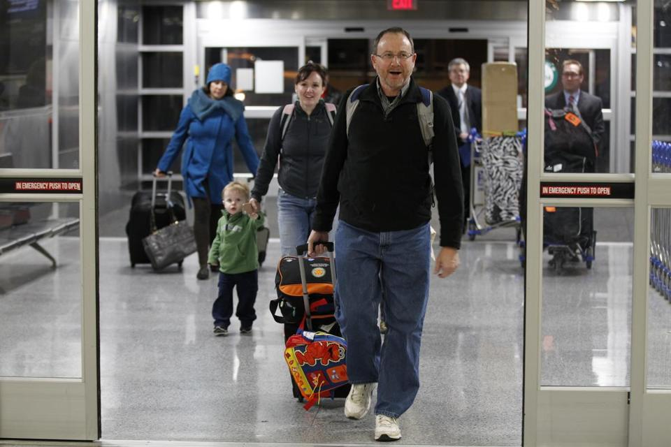 Gary Lewis of Maine was recognized as the 29 millionth traveler to pass through Logan Airport this year.