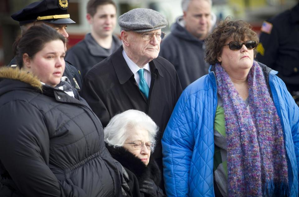 Family members of John Gibbons III, one of the three police officers honored, attended the event on Wednesday.
