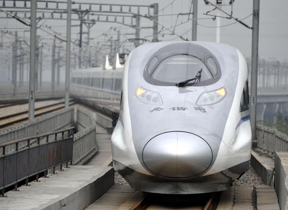 China's new bullet trains reach speeds of 186 miles and hour and can travel a distance equal to New York to Key West, Fla., in about eight hours.