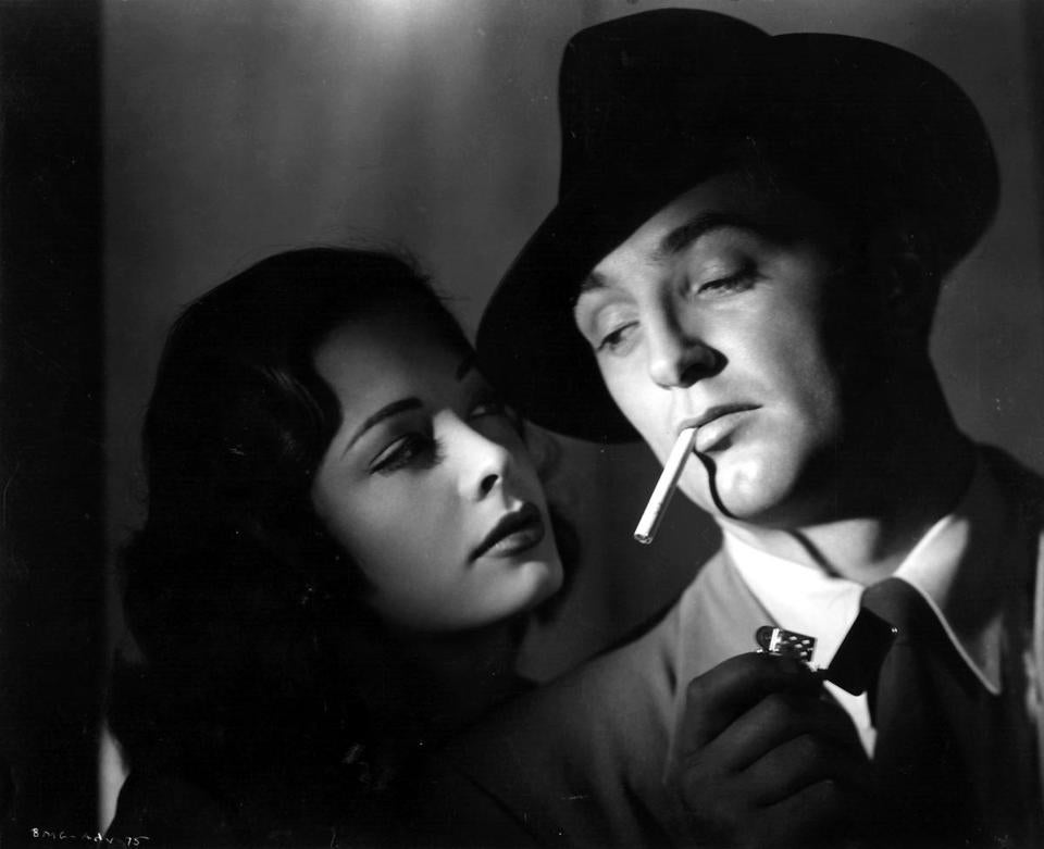 Jane Greer and Robert Mitchum in a scene from the 1947 film noir ''Out of the Past,'' directed by Jacques Tourneur.